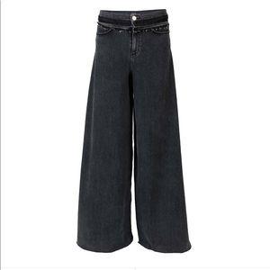 Hudson x Baja East Black Super Wide Leg Jeans - 24